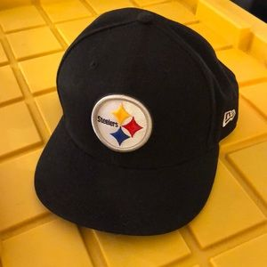 New Era Pittsburgh Steelers Fitted Hat, size 7.5""